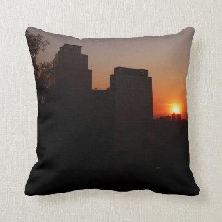 Santiago au coucher du soleil coussin