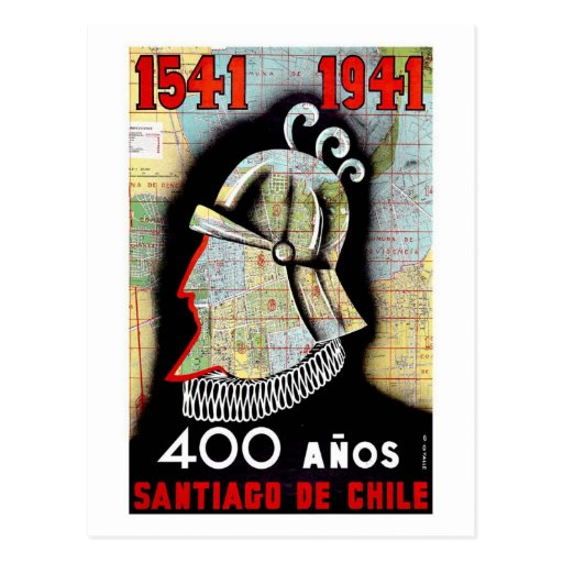 Santiago De Chili Carte Postale