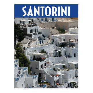 Santorini, architecture de flanc de coteau de la carte postale