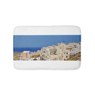 Santorini Grèce et son architecture Tapis De Bain