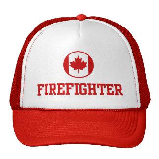 Sapeur-pompier canadien casquettes de camionneur