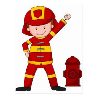 Sapeur-pompier Carte Postale