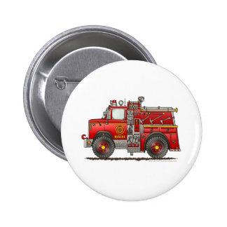Sapeur-pompier de camion de pompiers de délivrance badge