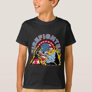 Sapeur-pompier de flambage t-shirt