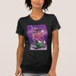 Saphir vert de lanterne et d'étoile - couleur t-shirt