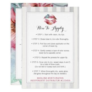 S'appliquer de distributeur de rouge à lèvres carton d'invitation 8,89 cm x 12,70 cm