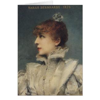 Sarah Bernhardt 1875 Carte De Vœux