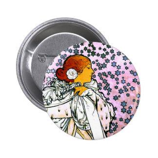 Sarah Bernhardt, dame Camélias aux. de La Badge Rond 5 Cm