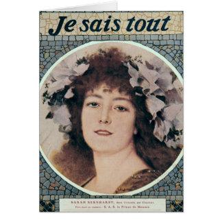 Sarah Bernhardt dans Gismonda Carte De Vœux