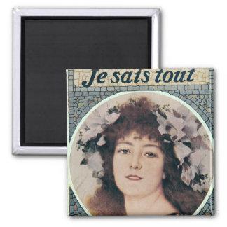 Sarah Bernhardt dans Gismonda Magnet Carré