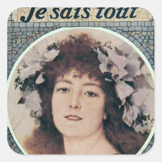 Sarah Bernhardt dans Gismonda Sticker Carré
