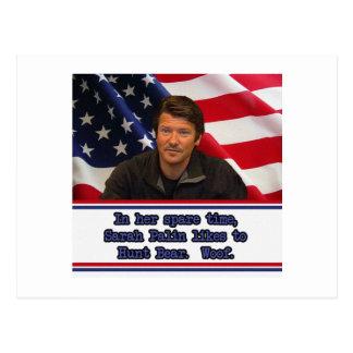 Sarah Palin aime chasser la carte postale d'ours