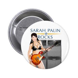 Sarah Palin bascule le bouton Badges Avec Agrafe