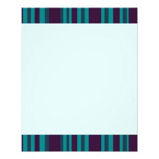 Sarcelle d'hiver bleu-foncé barrée prospectus en couleur
