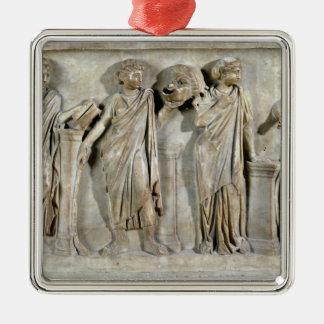 Sarcophage des Muses Ornement Carré Argenté