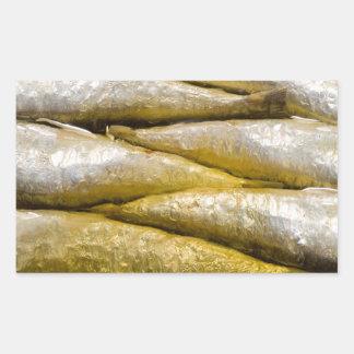 Sardines en boîte sticker rectangulaire