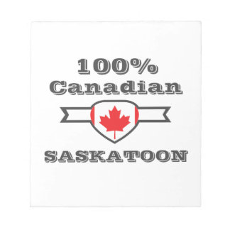Saskatoon 100% bloc-note