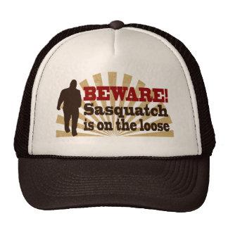 Sasquatch sur le lâche casquette de camionneur