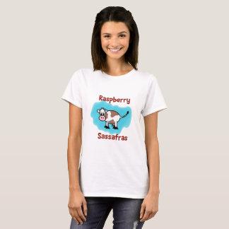 Sassafras classique de framboise sur la pièce en t t-shirt