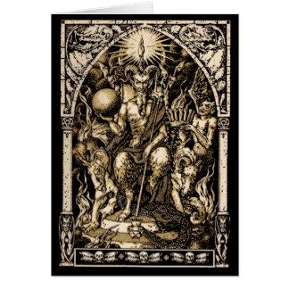 Satan a couronné la carte de voeux de solstice