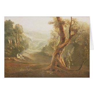 Satan contemplant Adam et Ève dans le paradis, de Carte De Vœux