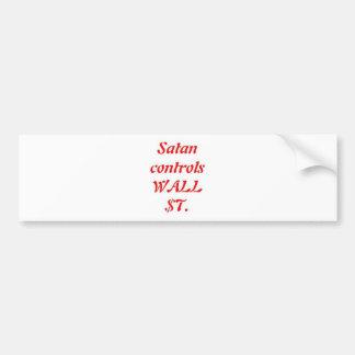 Satan contrôles Wall Street Autocollant De Voiture