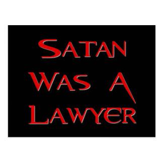 Satan était un avocat cartes postales