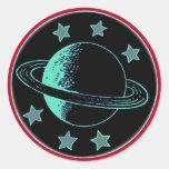 Saturn 6 - autocollant rond