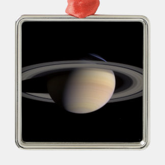 Saturn Ornement Carré Argenté