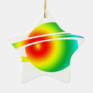 Saturn psychédélique ornement étoile en céramique