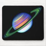 Saturn rougeoyant Mousepad Tapis De Souris