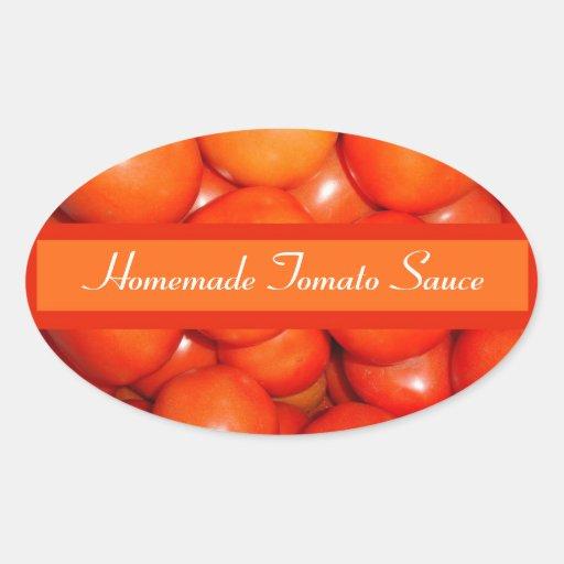sauce tomate tiquette de mise en bo te d coup sticker ovale zazzle. Black Bedroom Furniture Sets. Home Design Ideas