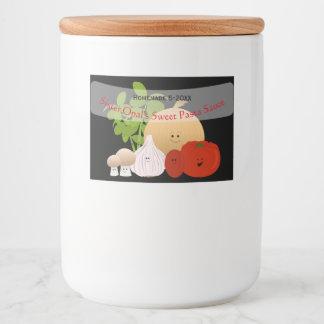 Sauce tomate mignonne étiquette pour bocaux