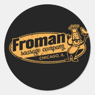 Saucisse Co Chicago l'Illinois de Froman Adhésifs Ronds