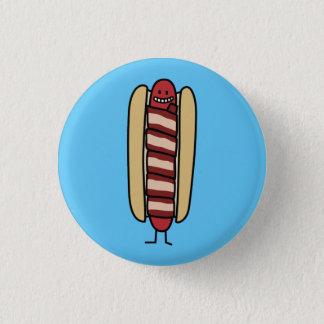 Saucisse de hot dog enveloppée par lard de hot-dog badges