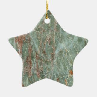 Sauge et marbre de rouille ornement étoile en céramique