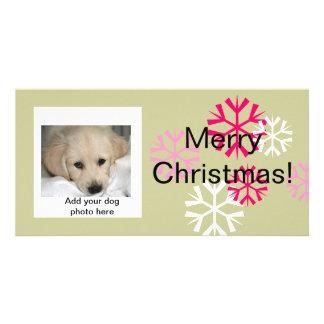 Sauge rose de chien de cartes photos faits sur photocarte personnalisée