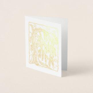 Saule étoilé de forêt fantastique foil card