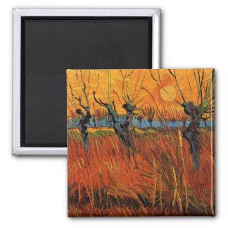 Saules de Van Gogh au coucher du soleil, impressio Magnets Pour Réfrigérateur