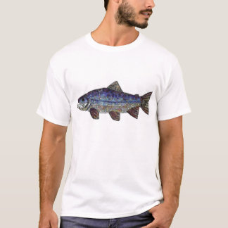 Saumon bleu t-shirt