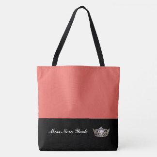 Saumon de Fourre-tout de couronne argentée de Mlle Tote Bag