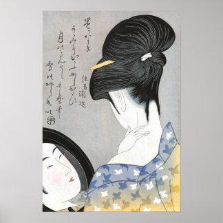 Saupoudrage du cou Kitagawa Utamaro Posters