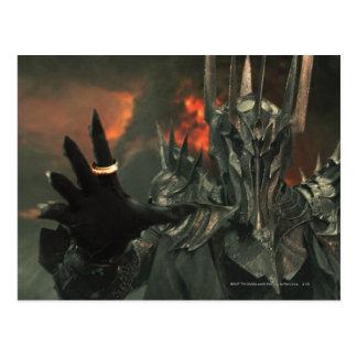 Sauron avec la main carte postale