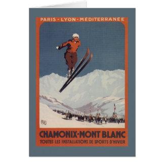 Saut à skis - affiche olympique de promo de PLM Carte De Vœux