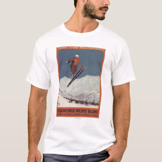 Saut à skis - affiche olympique de promo de PLM T-shirt