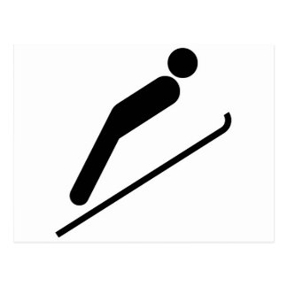 Saut à skis carte postale