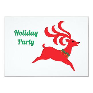 Saut de la fête de vacances rouge de silhouette de cartons d'invitation personnalisés