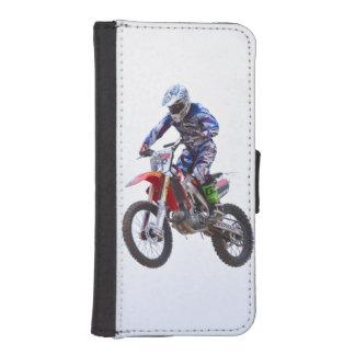 Saut de motocross coques avec portefeuille pour iPhone 5