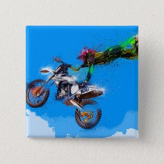 Saut de motocross de cavalier de moto badges