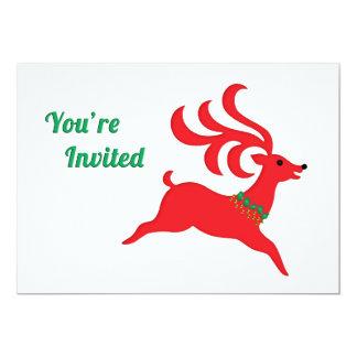 Sautant la silhouette rouge de renne invitée bristol
